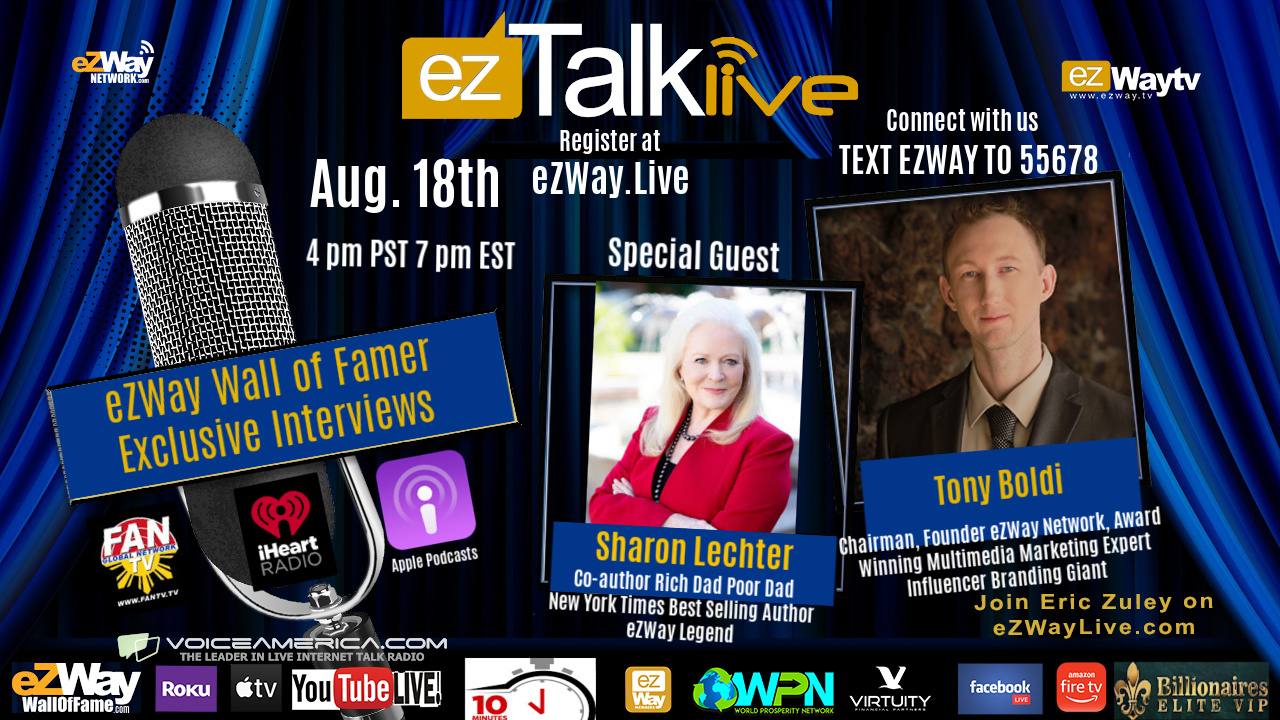 Sharon Lechter on EZ TALK LIVE with Eric Zuley