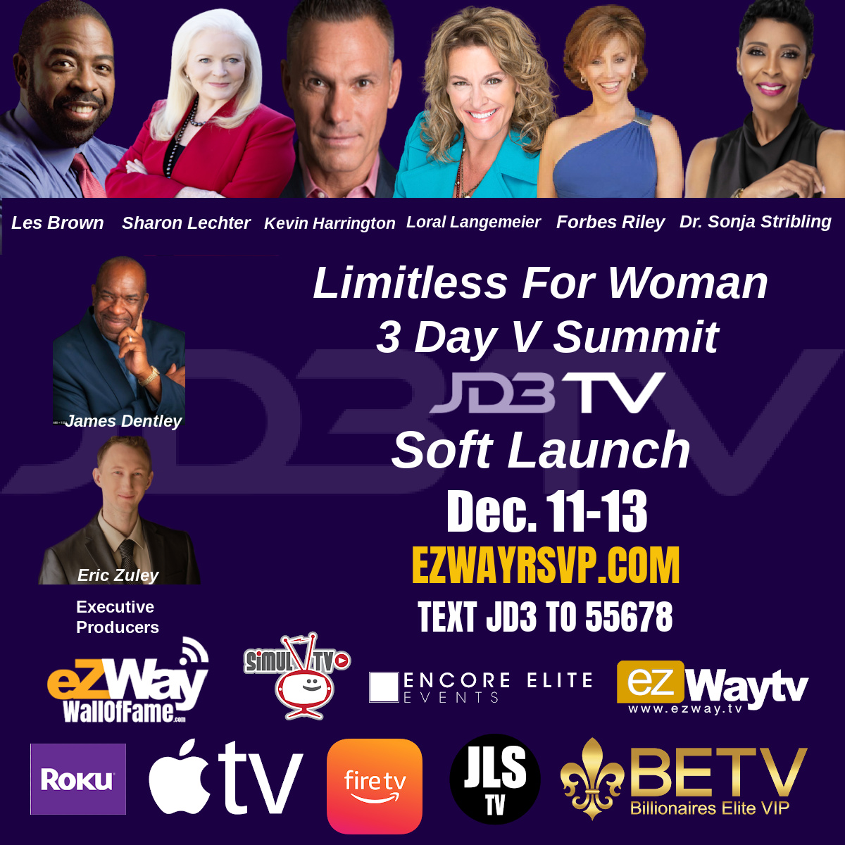 Limitless For Women 3 Days Summit Soft Launch of JD3TV