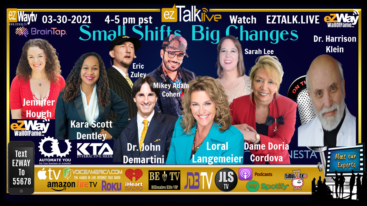 EZ TALK LIVE 03-30 Dr. Tony O'Donnell and Small Shifts, Big Changes Expert Panel