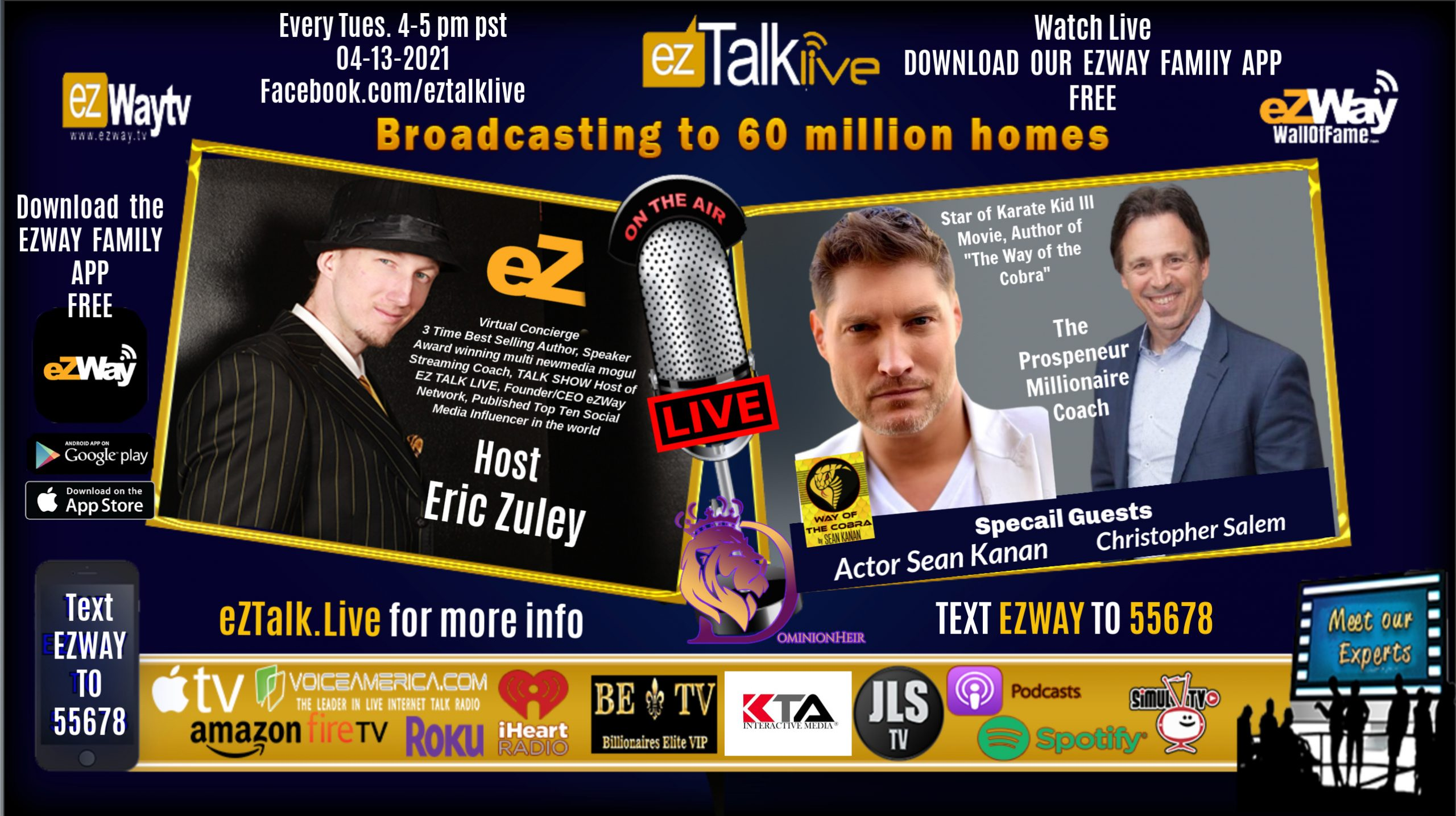 EZ TALK LIVE with Eric Zuley Feat. Sean Kanan and Christopher Salem