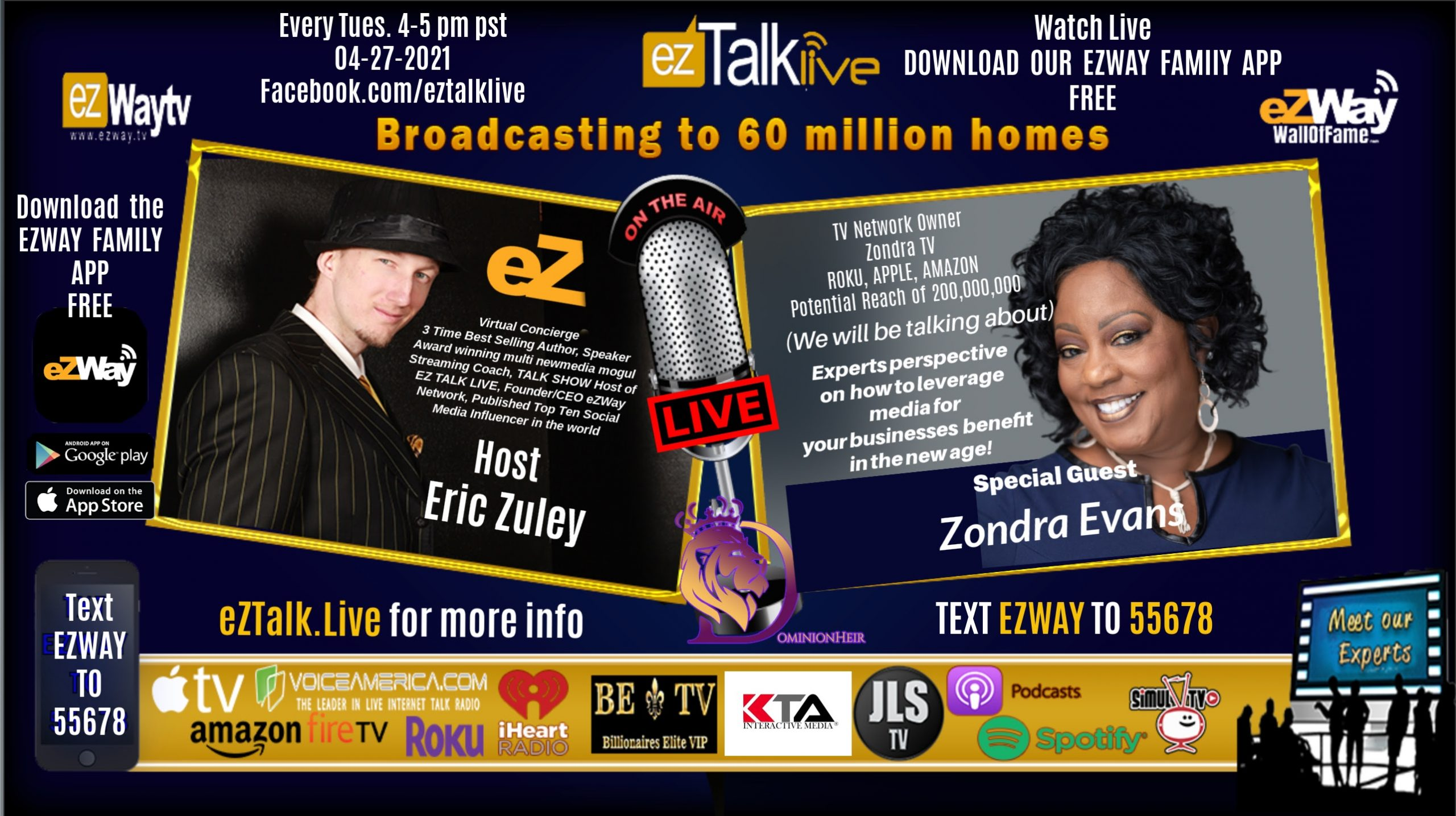 EZ TALK LIVE with Eric Zuley Feat. Distribution Expert Zondra Evans