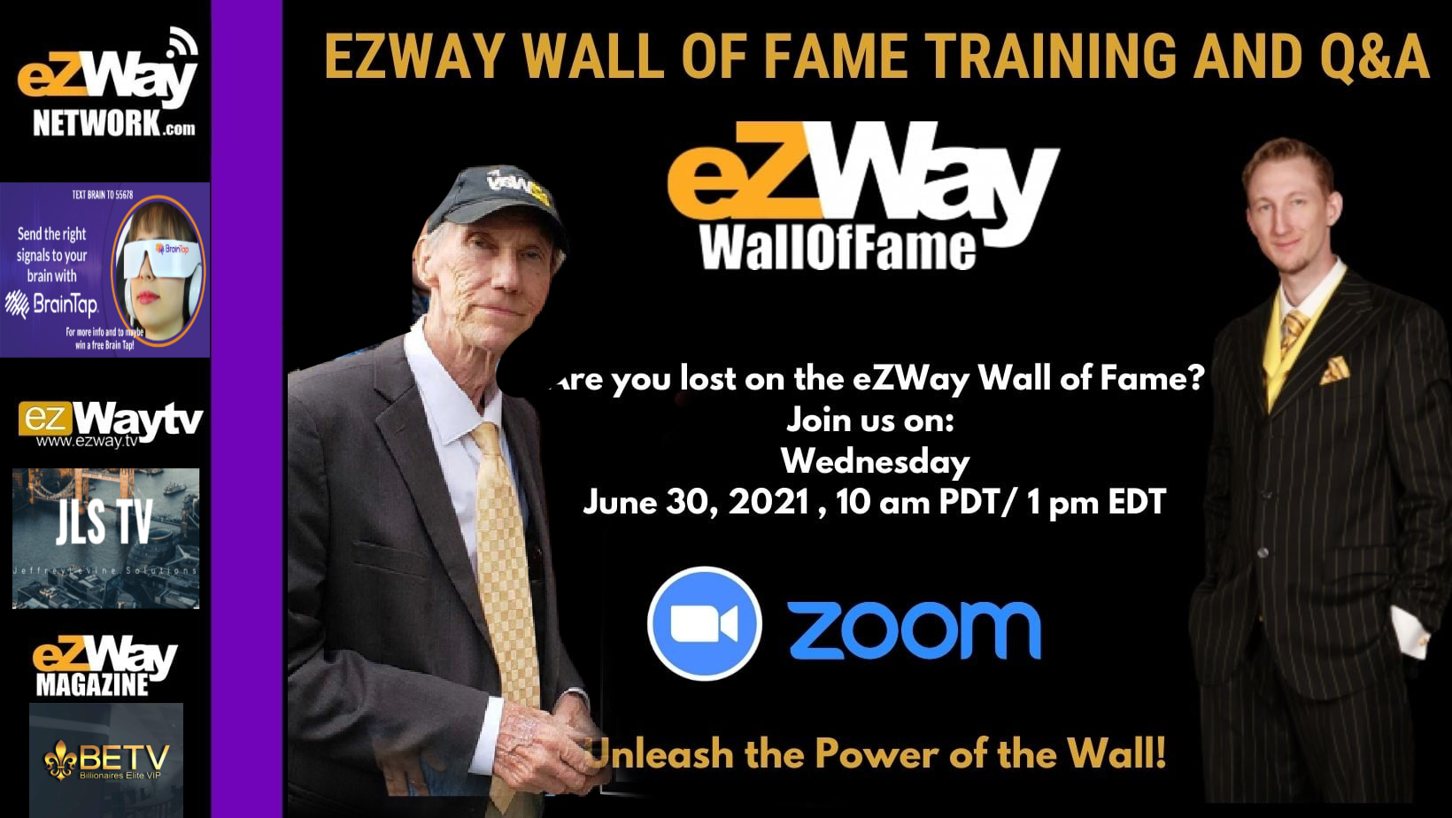 EZWAY WALL OF FAME TRAINING AND Q & A JUNE 30th