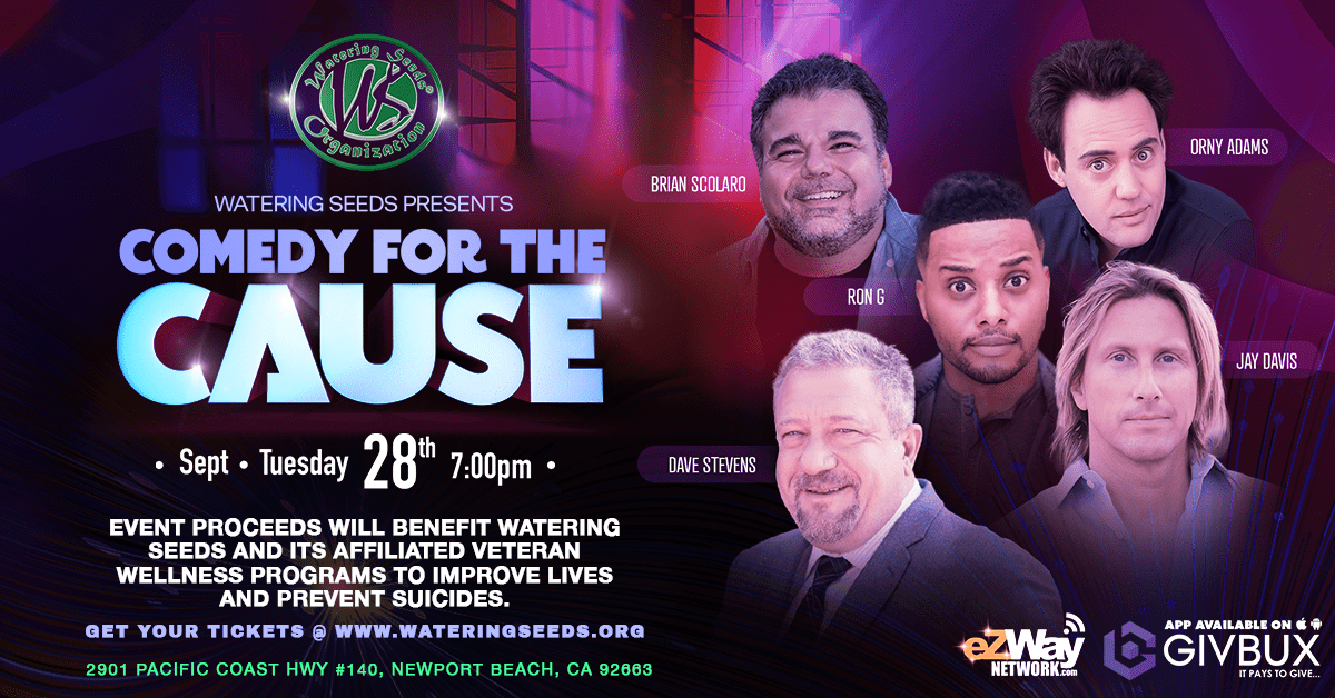 Comedy For The Cause Watering Seeds